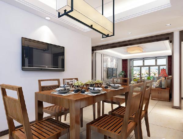 餐厅以一种简美的形态来体现温馨,简洁地实木家具泛着黄晕,让人可轻易地就能碰触到森林的润厚和原始气味。