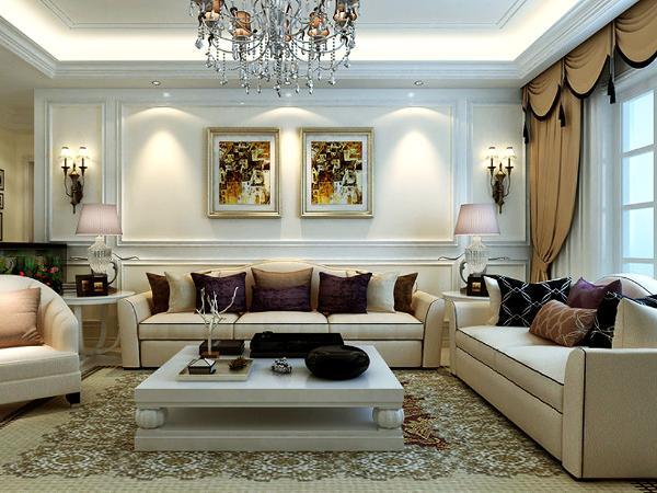 欧式风格装修的房间应选用线条繁琐,看上去比较厚重的画框,才能与之匹配,同时,一些布艺的面料和质感很重要,地毯的舒适脚感和典雅的独特质地与西式家具的搭配相得益彰。选择时最好是图案和色彩相对淡雅。