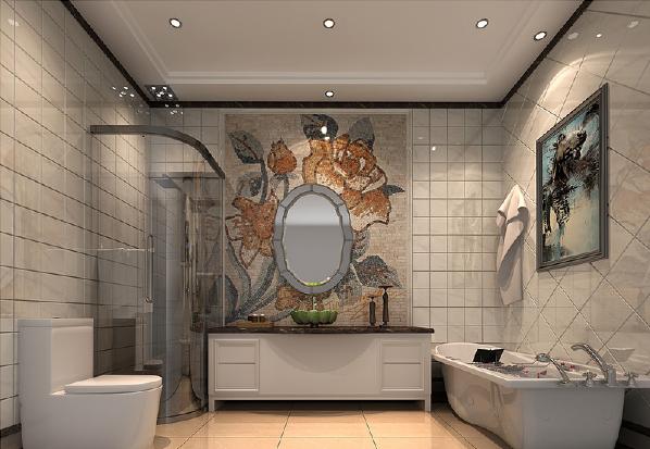 设计有序地将几何砖石拼贴在一起,与马赛克拼花、菱形砖面等塑造着卫浴间的现代精妙,展现着当代生活的魅力。