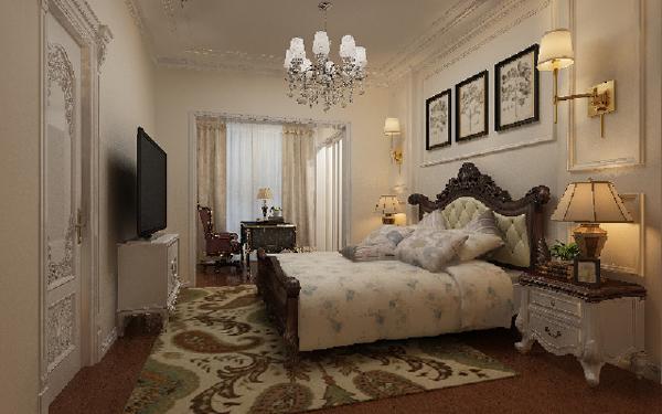 整个空间以白色为主色调,运用欧式经典元素的合理搭配,打造了一个既赋予创新,又尊重传统的华贵空间。