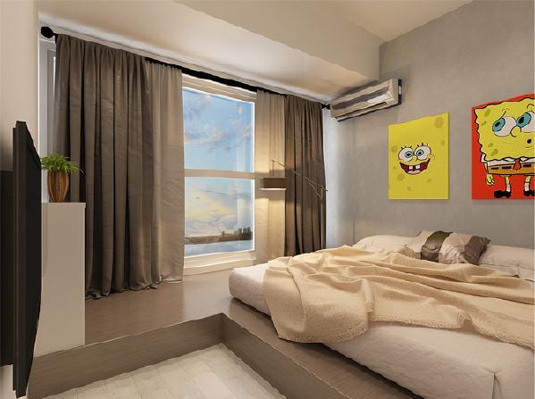 浅色地面,米色地毯,通透的大窗户,素色的墙都是极好的搭配。 让自然清新、舒适悠闲的空气就充斥整个卧室,让人无比留恋。
