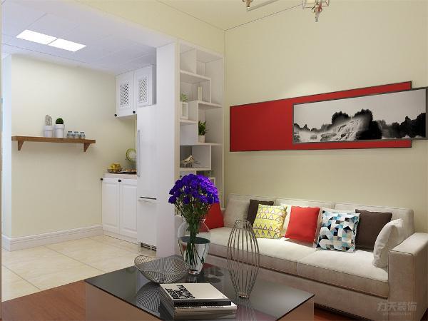我们的装修是以黄色为暖调,整给客厅卧室都是采用的黄色乳胶漆,电视背景墙在用小壁饰点缀,与沙发背景墙的笔画相对应来产生跳跃的视敢~