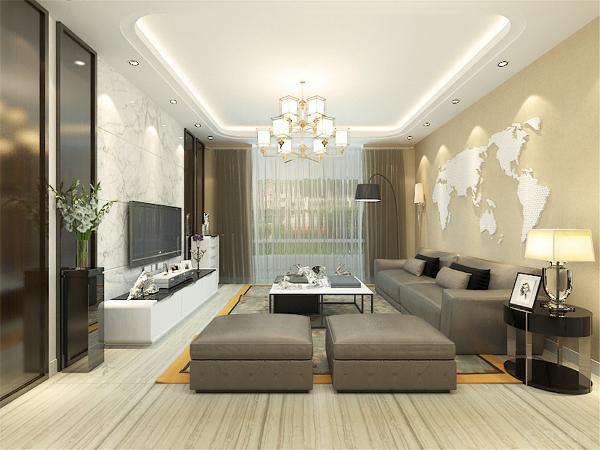 本户型是境界梅江E1户型 三室二厅二卫143㎡,采用的是现代简约的设计主题,再加上一些简单的装饰相互结合,以简洁明快的设计风格为主调。