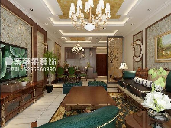 府东公馆美式风格三居室装修设计