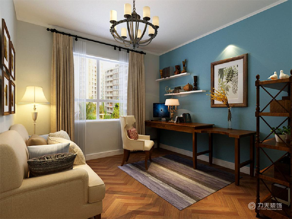 沙发背景墙后面为半高的矮墙贴白色文化砖,客厅处吊顶图片