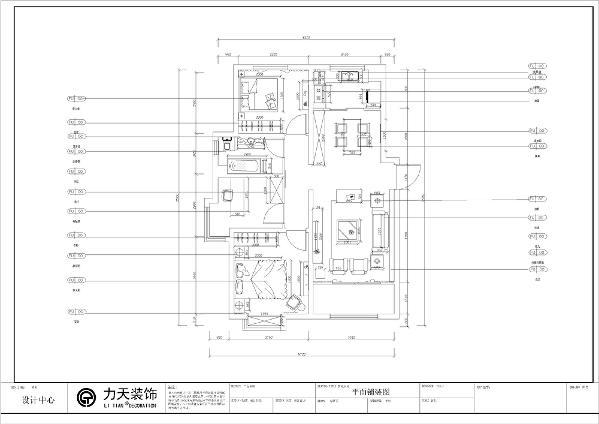 本案为中冶贤德公馆高层标准层C户型3室2厅1卫1厨108㎡。