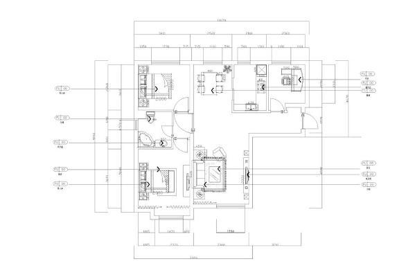 本户型为远洋城户型图 C户型 106㎡三室二厅一卫。