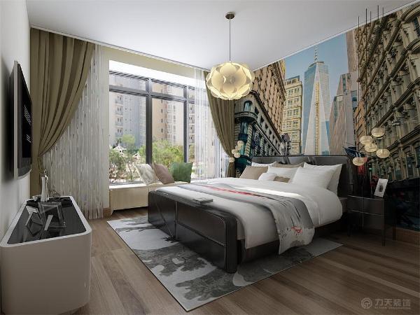 床头背景墙是卧室的视觉中心,它的设计以简洁,实用为原则,可采用挂装饰画,贴墙纸和贴饰面板等装饰手法,梳妆,阅读区主要布置梳妆台。