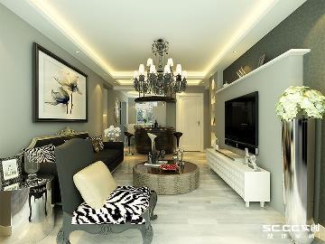 90平米现代简约--经典黑白时尚