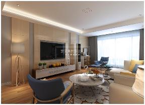 现代简约 80后 小清新 极简主义 客厅图片来自贵阳紫苹果装饰公司在万科花城115平米极简主义案例的分享