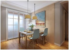 现代简约 80后 小清新 极简主义 餐厅图片来自贵阳紫苹果装饰公司在万科花城115平米极简主义案例的分享