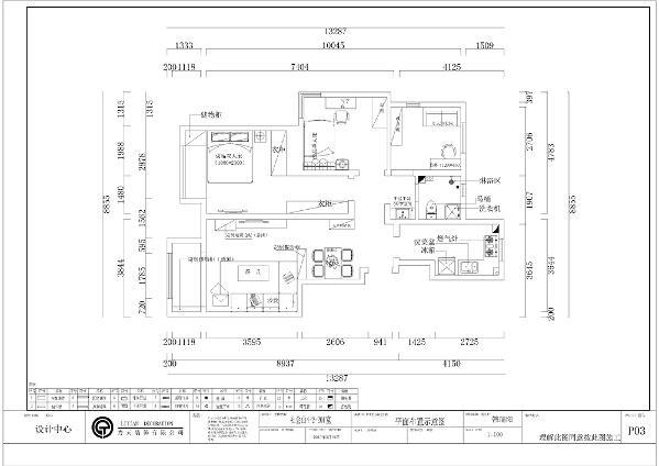 本套案例是位于社会山三室两厅一卫一厨的户型,共计104平米(赠予面积7平米)。