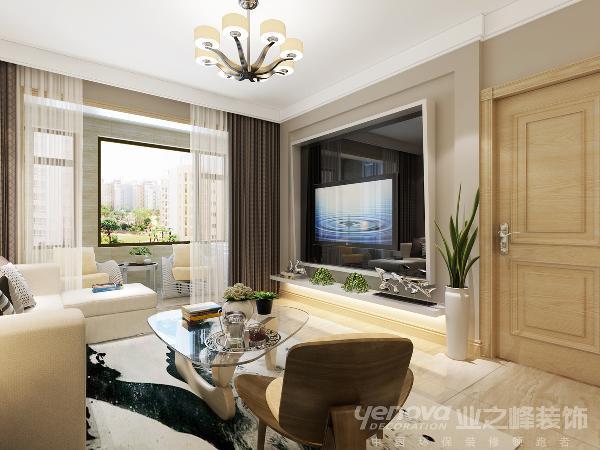 怡丁园90平米现代风格设计装修效果图——太原业之峰 咨询热线:13453173973