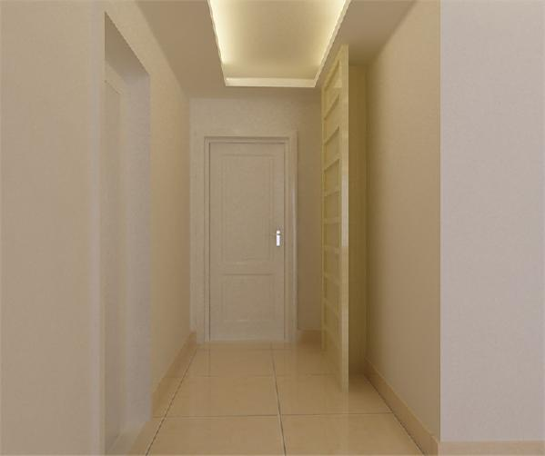 门口并没有放鞋柜,而是通体柜,既能满足鞋柜的需要也可以放衣服。以及一些小物件。