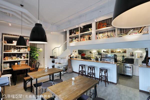 因应业主需求,特别以开放式设计串连厨房区、吧台区与座位区,让客人可以看见内部状况,提供安心舒适的感受。