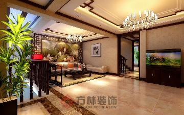 逸景盛熙城320平中式装修案例