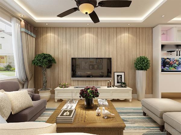 整个空间以暖色系为主,布艺沙发与现代的沙发背景墙挂画的混搭是整个设计的亮点。整个空间的搭配和谐、大方,家具的搭配碰撞突显了整个客厅的时尚感和现代感。