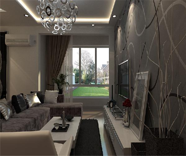 客厅:客厅吊顶采用了四方藻井吊顶,这样彰显现代的风格。