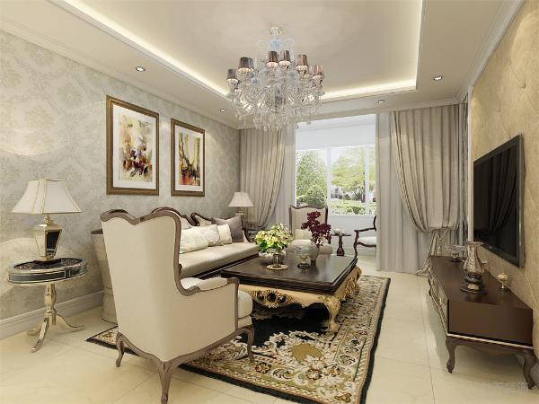 在设计上追求空间变化的连续性和形体变化的层次感,室内多采用带有图案的壁纸、地毯、窗帘(简约欧式风格窗帘的代表花型是大马士革)、床罩、帐幔及古典装饰画,体现华丽的风格。