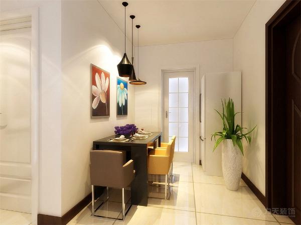 客厅吊顶则是以原顶为主,餐区这一块没什么造型以画为主,整个起居室是以暖色为主。既趋于现代实用,又明亮大方的特征。