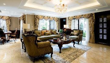 京尚装饰-正荣-美式别墅202㎡