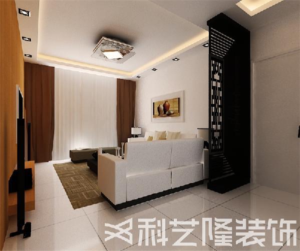 客厅隔断使用镂空的雕花隔断通过材质,更具有现代感与神秘感!