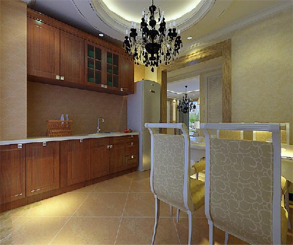 餐桌就可以放厨房里了,这样就使功能区的划分更加明确。