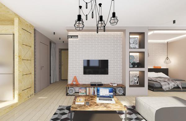 组合式沙发的选择,采用简约有格调的灰色,柔软舒适,简洁大方。