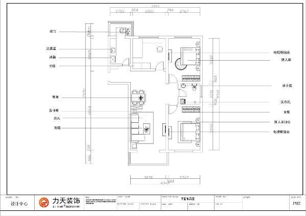 该户型为海盛中城120平米三室一厅一厨一卫。