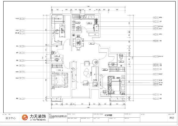 本案为蘭园三室两厅一厨两卫户型,面积为130平方米。