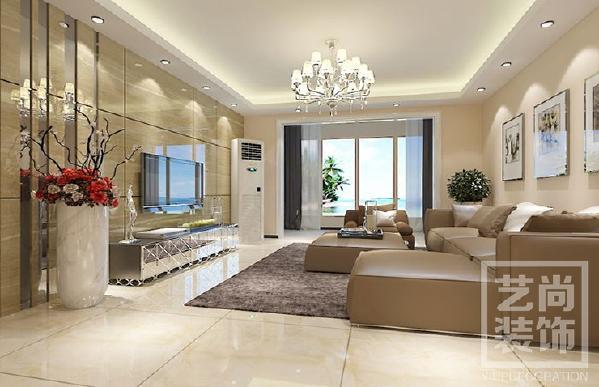 永威迎宾府115平方三室两厅现代简约装修效果图