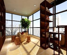 复式 中式 实用 收纳 阳台图片来自天津京尚装饰在京尚装饰-红星-中式复式108㎡的分享