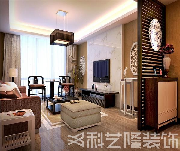 直线装饰在空间中的使用,不仅反映出现代人追求简单生活的居住要求,更迎合了中式家具追求内敛、质朴的设计风格,使