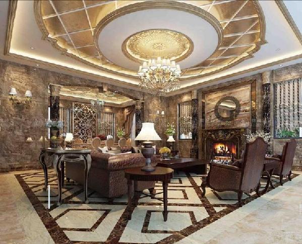 东源丽晶220平别墅装修欧式古典风格设计方案展示,上海腾龙别墅设计师周灏作品,欢迎品鉴!