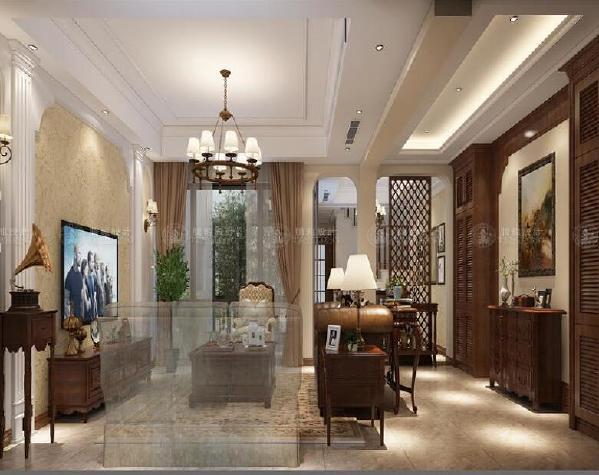 昆山时代御湖别墅装修简美风格设计方案展示,上海腾龙别墅设计师祝炯作品,欢迎品鉴!