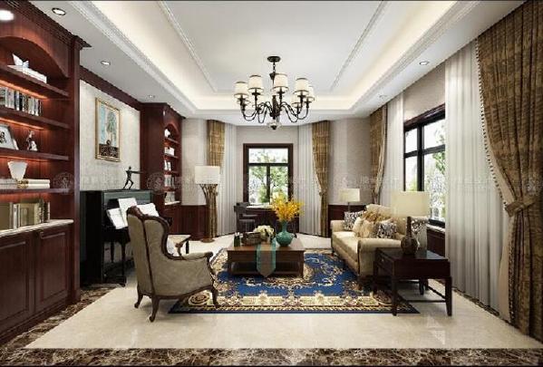 东海御庭独栋别墅700平美式风格设计方案展示,上海腾龙别墅设计师祝炯作品,欢迎品鉴!