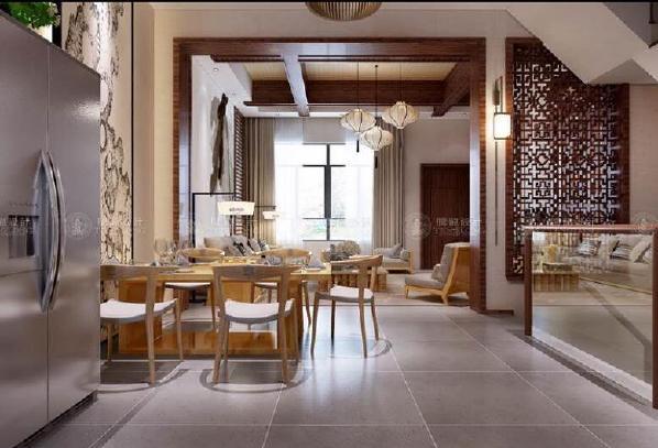 华贸东滩花园别墅装修现代风格设计方案展示,上海腾龙别墅设计师归宏华作品,欢迎品鉴