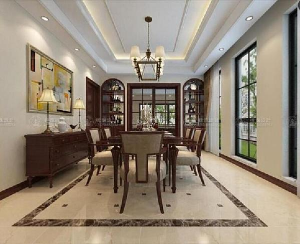 浦江坤庭388平别墅户型装修美式风格设计方案展示,上海腾龙别墅设计师祝炯作品,欢迎品鉴