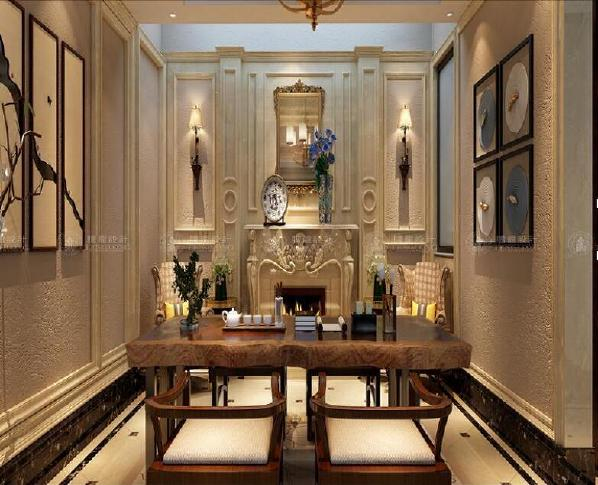 华贸东滩花园别墅装修欧式古典风格设计方案展示,上海腾龙别墅设计师孙明安作品,欢迎品鉴