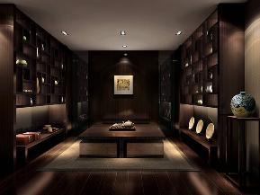 别墅 中式 收纳 衣帽间图片来自张勇高级室内设计师在中式设计案例展示的分享