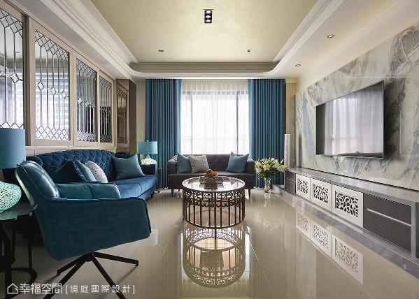 设计师周靖雅淬炼空间质感,在自家的规划中,以带有秀丽线条的宫廷风格,为空间重新定义美的面貌。