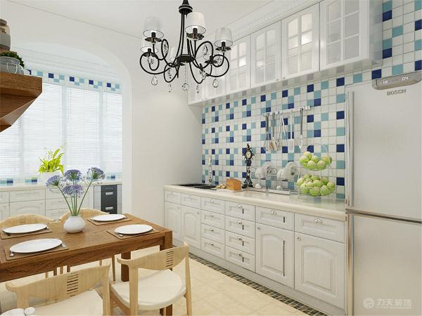 整体的设计风格采用的是地中海,地中海风格的家具以其极具尽河里田园风情及柔和色调的搭配很快被地中海以外的大部分人群所接受。