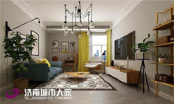 中建新悦城120㎡现代装修效果图