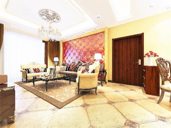 室内多采用带有图案的壁纸、地毯、窗帘(简约欧式风格窗帘的代表花型是大马士革)、床罩、帐幔及古典装饰画,体现华丽的风格。墙面选用壁纸,以烘托效果。