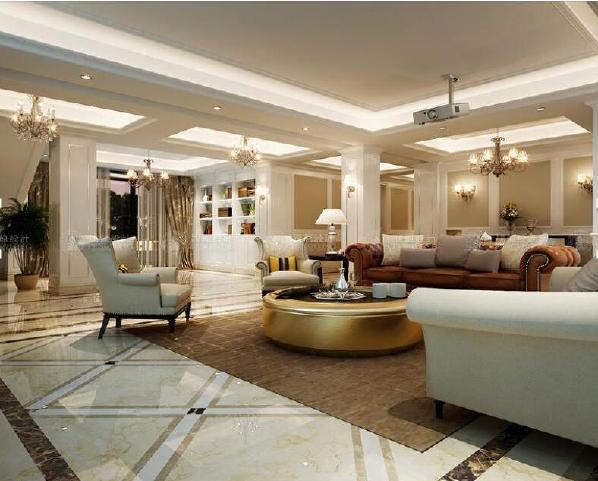 云间绿大地484平独栋别墅装修欧式古典风格设计方案展示,上海腾龙别墅设计师周一俊作品,欢迎品鉴!