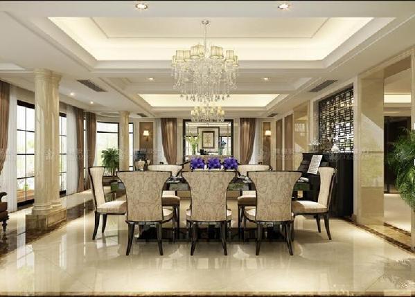 长宁区西郊花园400平别墅户型装修欧式新古典风格设计方案展示,上海腾龙别墅设计师周一俊作品,欢迎品鉴!