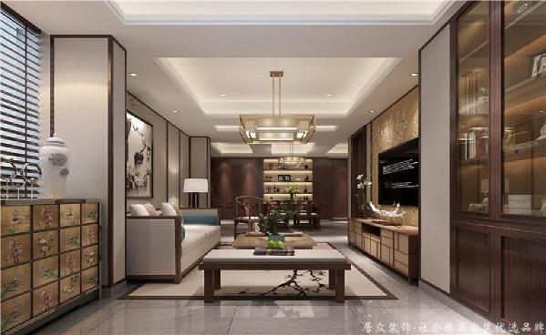 硬朗简洁的直线条,使得空间极富层次感。在客厅里面接待客人,无疑能让进门的客人感觉出主人的整齐划一和做事的条理性,不由自主地产生出一种信赖之感!