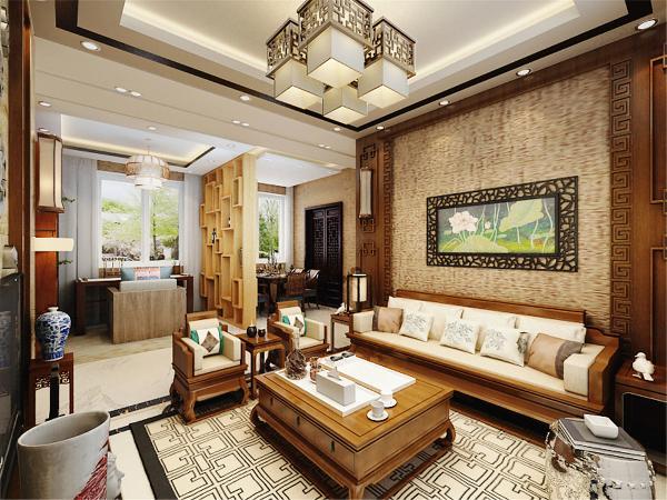 中国传统的室内设计融合了庄重与优雅双重气质。中式风格更多地利用了后现代手法,把传统的结构形式通过重新设计,和组合让中式的风格,附有现代感。