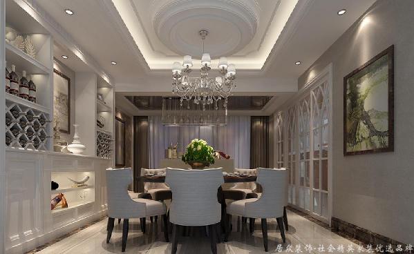整体空间运用了微晶砖、抛光砖、大理石线条、不锈钢条及实木板材。