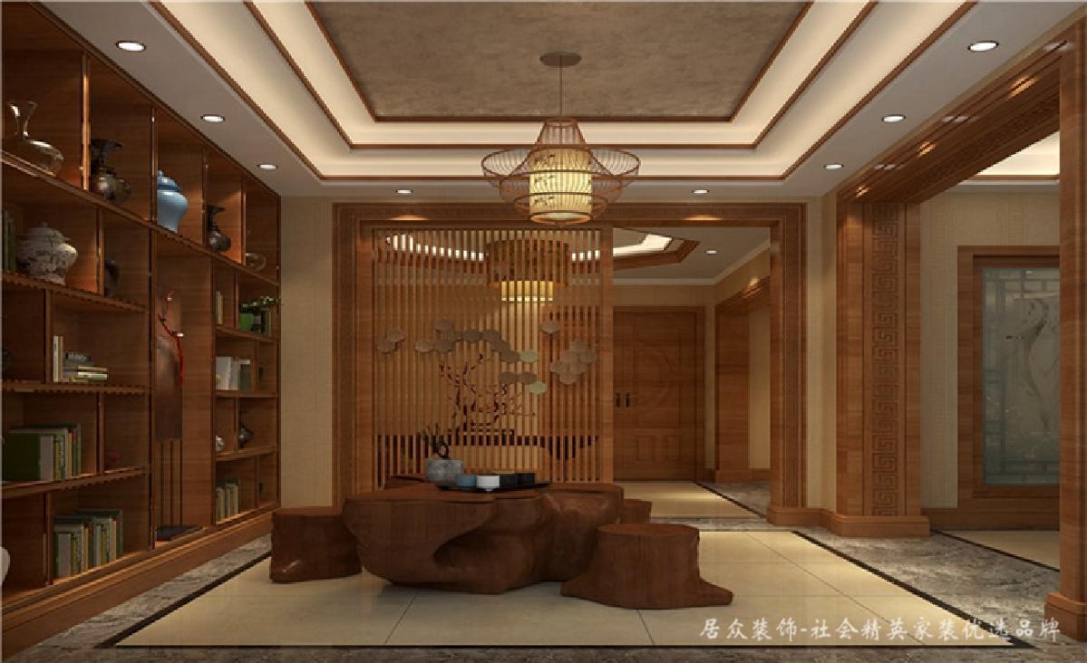 别墅 中式 新中式 书房图片来自深圳居众装饰集团在典雅尊贵中式别墅-350㎡的分享